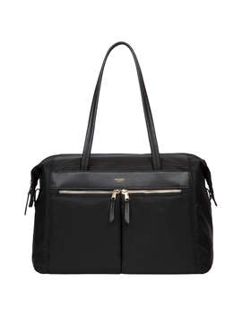 "Knomo Curzon Shoulder Tote For 15"" Laptops, Black by Knomo"
