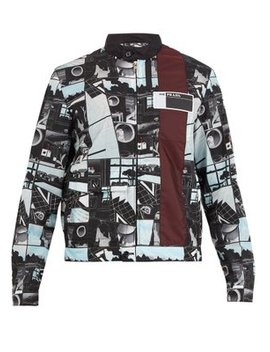Comic Strip Stand Collar Jacket by Prada