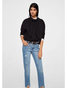 Slim Jeans Mit Dekorativen Rissen by Mango
