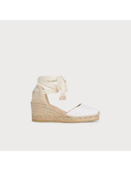 Maureen White Cotton Espadrille Sandals by L.K.Bennett