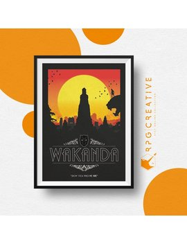 Black Panther : Wakanda   Marvel Movie Poster | Digital Print | Living Room Wall Art | Geek Decor | Marvel Poster | Homemade by Rpg Creative