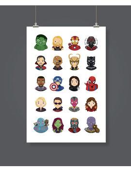 Marvel Avengers Print by Jamie Miller Design