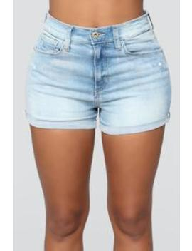 Becky High Rise Shorts   Light Blue Wash by Fashion Nova
