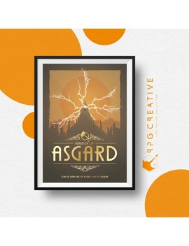 Thor Of Asgard : Marvel   Movie Poster | Digital Print | Homemade | Geek Decor | Marvel Gift | Collectible Wall Art by Rpg Creative