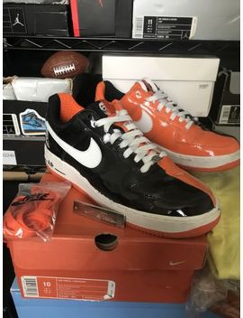 2005 Nike Air Force 1 Premium Halloween Black Orange White 313641 011 Size 10 by Nike