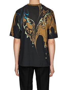 Marble Graphic Cotton T Shirt by Dries Van Noten