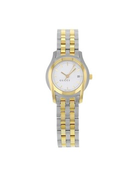 Steel & 18k Yellow Gold Round 5500l Quartz 27mm Ladies (13001) Watch by Gucci