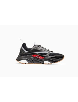 """""""B22"""" Trainer In Black Technical Knit And Black And Grey Calfskin by Dior"""