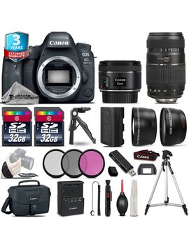 Canon Eos 6 D Mark Ii Dslr Camera + 50mm 1.8 Stm & 70 300mm + 3yr Warranty + 64 Gb by Tri State Camera