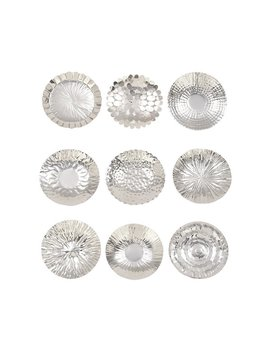 Cole & Grey 9 Piece Stainless Steel Decorative Plate Set & Reviews by Cole & Grey