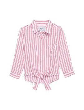 Valerie Stripe Tie Front Shirt by Rails