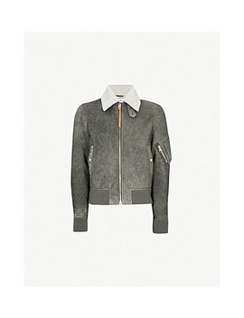Suede And Shearling Aviator Jacket by Jw Anderson