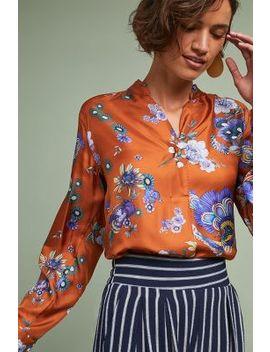 Cervara Floral Silk Blouse by Le Sarte Pettegole