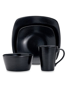Noritake® Black On Black Swirl Square Dinnerware Collection by Bed Bath And Beyond