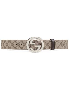 Gucci Gg Supreme Belt With G Bucklehome Men Gucci Accessories Belts by Gucci