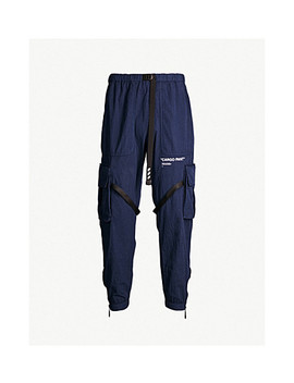 Parachute Relaxed Fit Cotton Blend Jogging Bottoms by Off White C/O Virgil Abloh