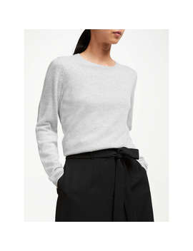 John Lewis Cashmere Crew Neck Sweater, Light Grey by John Lewis