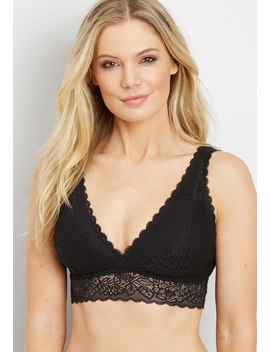Lace V Neck Bralette by Maurices
