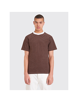 Maison Margiela Striped Terry T Shirt Brown by Très Bien