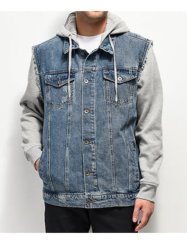 Empyre Sidecar Gray & Blue Denim Jacket by Empyre