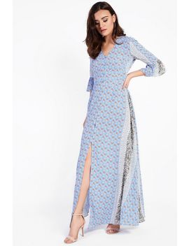 **Border Print Maxi Dress By Glamorous Petites by Topshop