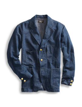 Cotton Hemp Denim Sport Coat by Ralph Lauren