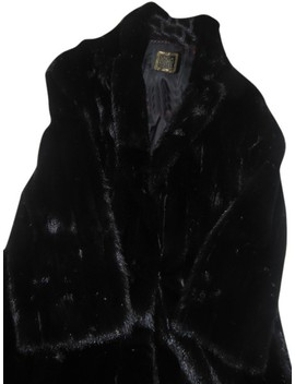 Black Vintage Mink Fur Coat by Saga Furs
