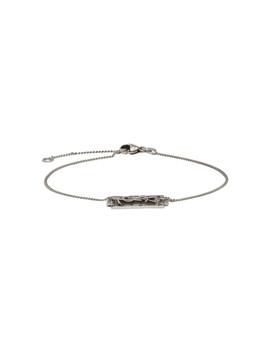 Silver Logo Bracelet by Saint Laurent