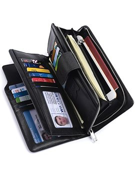Alavor Woman Rfid Blocking Trifold Wallet Long Clutch Credit Card Organizer Purse by Alavor