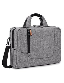 Brinch 14 Inch Laptop Computer Case Cover Sleeve Shoulder Strap Bag With Side Pockets Handles And Detachable For Laptop/Notebook/Net Book/Chromebook,Colour Light Grey by Brinch
