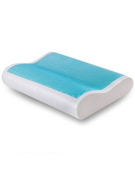 Comfort & Relax Cool Gel Memory Foam Contour Pillow For Sleeping Neck Support, Standard, 1 Pack by Comfort & Relax