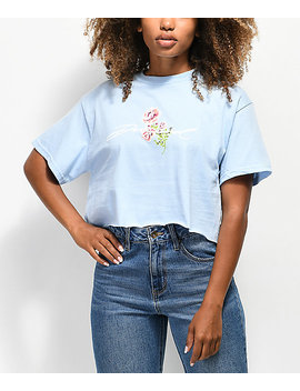 Diamond Supply Co. Garden Baby Blue Crop T Shirt by Diamond Supply