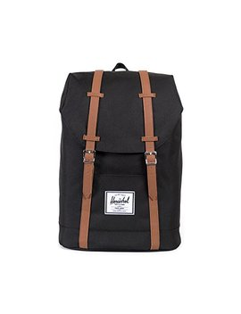 Herschel Retreat Back Pack Casual Daypack, 43 Cm, 19.5 Liters, Black (Schwarz/Tan) by Herschel