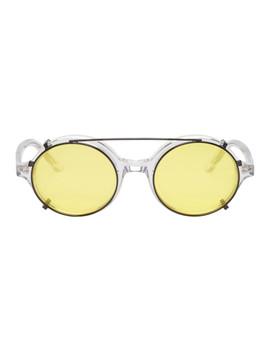 Transparent & Black Doc Clip On Sunglasses by Han Kjobenhavn