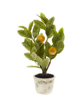 Artificial Lemon Tree & Pot 45x15cm by
