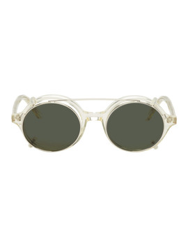 Transparent & Silver Doc Clip On Sunglasses by Han Kjobenhavn