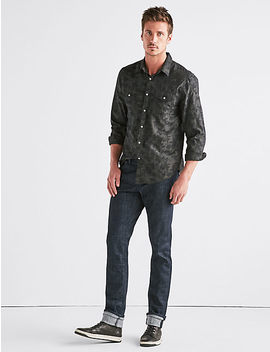 Jacquard Camo Western Shirt by Lucky Brand