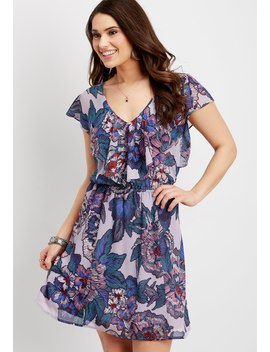 Ruffle Stitched Floral Dress by Maurices