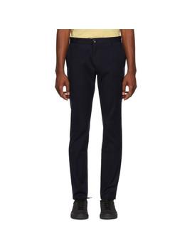 Navy Heldor Trousers by Hugo