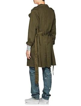 Cotton Twill Trench Coat by Nsf