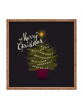 Joy Laforme Merry Christmas Little Tree Tray   Deny Designs by Shop All Deny Designs