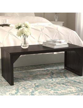 August Grove Exie Slat Bench & Reviews by August Grove