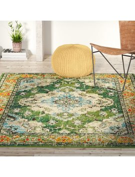 Bungalow Rose Annabel Green Area Rug & Reviews by Bungalow Rose