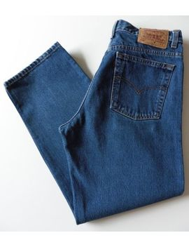 Women's Levis 555 High Waisted Relaxed Jeans Size 16 S Blue W34 L28 Mom (Eu 42 S) by Ebay Seller