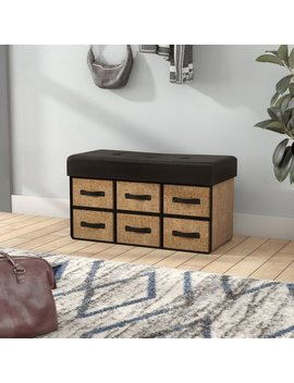 Ebern Designs Bhadra Folding Wood Storage Bench & Reviews by Ebern Designs