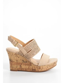 Joan Flower Laser Cut Wedge by Maurices