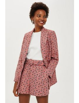 Floral Jacquard Single Breasted Jacket by Topshop