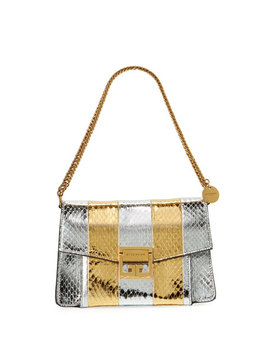 Gv3 Metallic Snakeskin Shoulder Bag by Givenchy