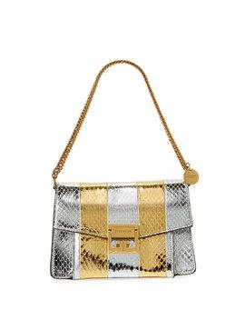 Gv3 Metallic Snakeskin Shoulder Bag by Givenchy