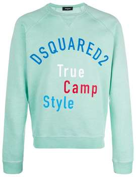 Dsquared2 True Camp Style Print Sweatshirthome Men Dsquared2 Clothing Sweatshirts Cool Guy Paint Splatter Jeansleather Hiking Boots True Camp Style Print Sweatshirt by Dsquared2